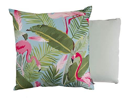 CB Home & Style Outdoor Garten Kissen Wasserabweisend 45 x 45 cm Tropical (Flamingo1)