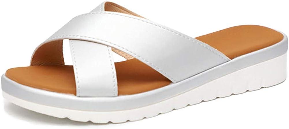 VIMISAOI SALENEW very popular! Women's Summer Wedges Platform Sandals Cheap Comfort Clip T