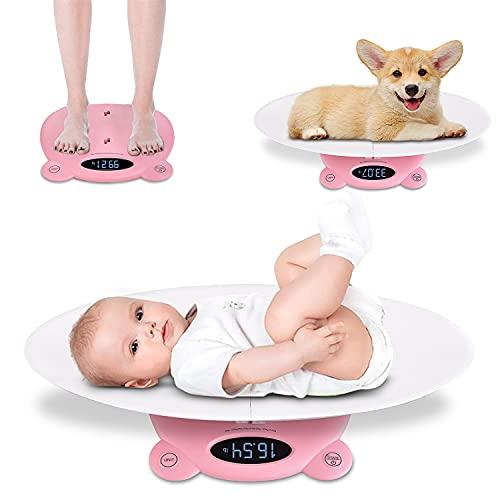 SUNWEII Báscula para bebés Comfort Báscula multifunción para Mascotas de MAX 120kg Báscula pediátrica precisa para bebés recién Nacidos, Mascotas, Gatos, Perros Adultos 650X320X88 mm