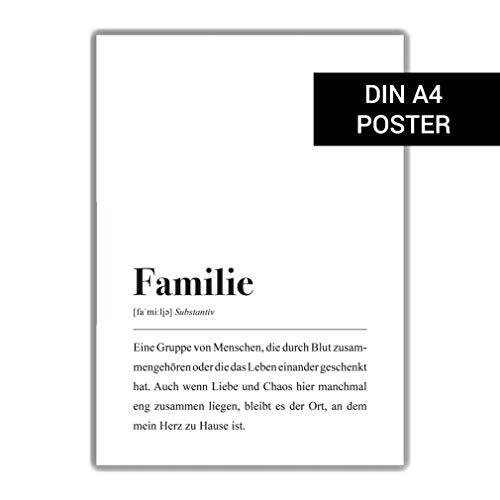 Familie Definition: DIN A4 Poster