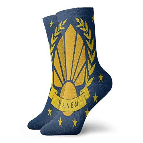 YUNJUAN Panem Republic Flag 30cm Lange Socken Athletic Cotton Freizeitstrümpfe