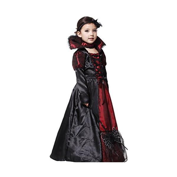 EOZY-Vampire Queen Costume - Vampire Girl Costume - Twilight - Girls Girls 'Dress And Accessories for Halloween Carnival, Cosplay 3 spesavip