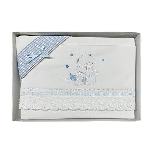 NADA HOME Juego de sábanas para cuna de algodón, diseño de emoticonos pequeños, 3833