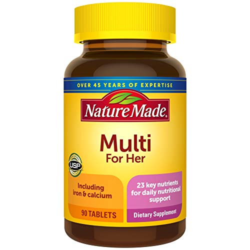 Nature Made Women's Multivitamin Tablets, 90 Count for Daily...