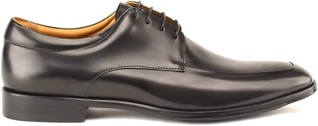 Gordon Rush Reading - Men's High End Apron Toe Oxford Handcrafted in Italy. Blake Constructed Dress Shoes with Premium Italian Calfskin Upper.