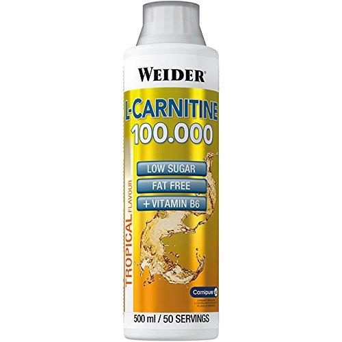 Weider, L-Carnitine 100.000, Tropical, 1er Pack (1x 500ml)