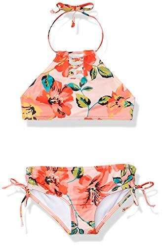 BILLABONG Mädchen Beach Bliss Hi Neck Two Piece Swim Bikini-Set, Multi, 6X