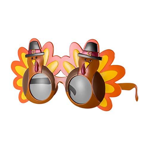 Tinksky Creative Turkey Glasses Thanksgiving Eyeglasses Cartoon Sunglasses Eye Glasses for Happy Thanksgiving Costume Party Glasses, Gift for Friends