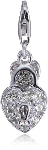 s.Oliver Damen-Charm Herz 925 Silber 321716