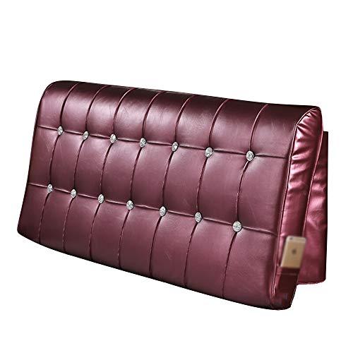 Xuping nattkudde – dubbelt huvud mjukt paket med hög densitet svamp kudde soffa konstläder tillbaka 5 färger valfritt (färg: C, storlek: 180 cm)