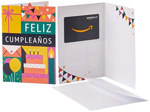 Tarjeta Regalo Amazon.es - Tarjeta de felicitación Cumpleaños y iconos amarillos