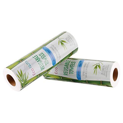 CHAOQUN Paños reutilizables de bambú para Cocina y Hogar Rollo de cocina ecológico Multiusos Resistente y absorbente antibacteriano