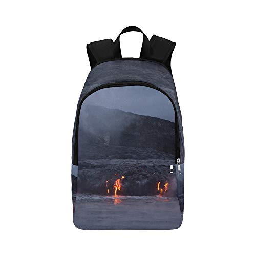 RYUIFI Bookbags for Teen Girls Magma and Water Fusion Durable Water Resistant Classic Bags for College Kid Sports Bag Backpacking Best School Bags