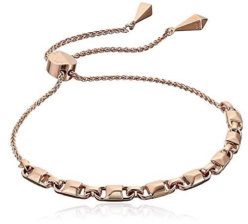 Michael Kors Precious Metal-Plated Sterling Silver Mercer Link Slider Bracelet Rose Gold One Size