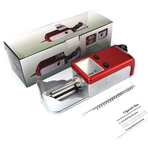 EXUVIATE Entubar Maquina Liadora de Tabaco Entubadora Electrica para Cigarrillos Montar Cigarrillos...