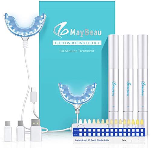 Bleaching-Set mit 3 Bleaching-Stiften und LED-Mundstück von MayBeau