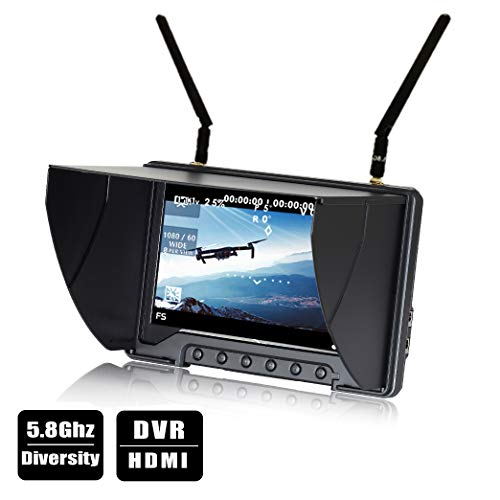 Flysight FPV Monitor Black Pearl RC801 with DVR 5.8G 40CH Wireless 7