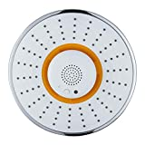 Kixnor Music Shower Head, with Wireless Bluetooth Speaker, Microphone to Answer Phone Calls, Full-Coverage Spray Nozzle Showerhead for Bathroom - Rechargeable Battery