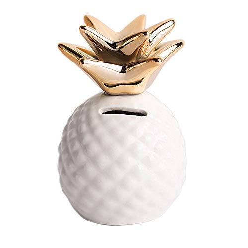 Outdoorfly Keramik-Ringhalter für Schmuck, Ringe, Ohrringe, Tablett für Schmuck, Teller, Ringe, Ringe, Schmuckkästchen Pot White