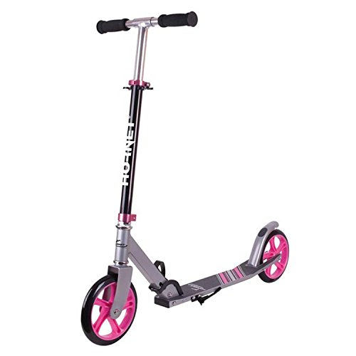 Hornet Unisex Jugend Scooter Roller 200 Kickscooter, schwarz/pink, 200 mm