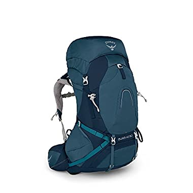 Osprey Packs Pack Aura Ag 50 Backpack, Challenge Blue, Small