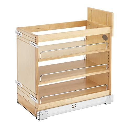 Rev-A-Shelf 448-BDDSC-11C Innovative 11 Inch Door/Drawer Base Soft Close Kitchen Cabinet Storage Organizer, Natural Maple Wood