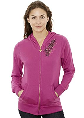 Jordacshe Zip Up Women's Hoodie – Ultra Soft, Comfortable and Cozy Hooded Cotton Sweatshirt - by