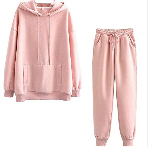 Women Two Pieces Set Hooded Oversized Sweatshirt Pants Hoodie Suits Autumn Sping Casual Outwears-Set 3_XXL