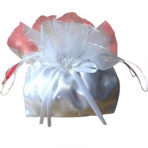 Seruna Braut-Tasche BT3 Hochzeit klein-e weiß-e Hand-Tasche -Beutel Accessoires für Brautkleid-er
