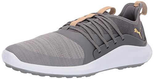 PUMA mens Ignite Nxt Solelace Golf Shoe, Gray Violet-puma Team Gold-quiet Shade, 9.5 US