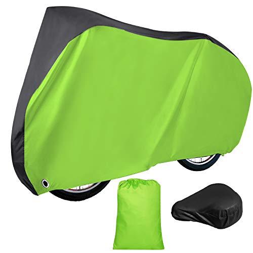 Simpeak Funda Impermeable para Bicicleta 210D XL, 200 x 110 x 70 cm con Funda Impermeable para sillín, Verde Brillante
