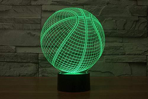 3D-Illusionslampe LED-Nachtlicht USB-Nachtlicht 7 Farbwechsel Nachtlicht Berührungssensor Atmosphäre Tisch Nachtprojektor Basketballausrüstung