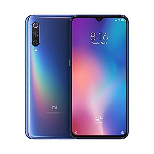 Xiaomi Mi 9 – Smartphone de AMOLED de 6,39' (4G, Octa Core Qualcomm SD 855 2.8 GHz, RAM de 6 GB, memoria de 64 GB, cámara triple de 12 + 48 + 16 MP, Android) color azul océano [Versión española]