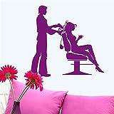 zlhcich PeluqueríaGirls Lady Hair Salon Nombre Etiqueta de la Pared Corte...