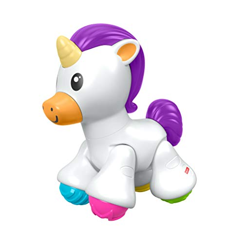 Fisher-Price Unicorno da Premere, Sviluppa la Causa-Effetto e le Attività Sensoriali, Gioco per Bambini 6 + mesi, FYL45