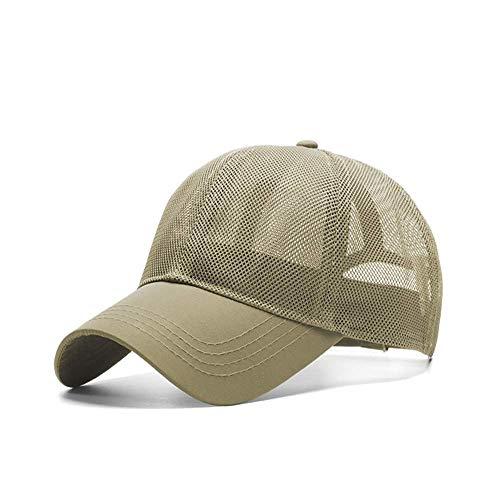 Gorra de Pico de Gran tamaño para Hombre, Gorras de Camionero de Malla de Verano para Hombre, Gorras de béisbol de Hueso Grande para Secado rápido, M 55-60cm L 60-65cm