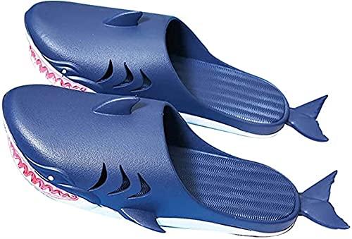 CRGSM Zapatillas Verano Mujer Zapatillas con Forma tiburón Adultos Divertidas Chanclas Verano Zapatos Playa Pareja Suave y Creativa Sandalias Ducha Niños Niñas Diapositivas Casuales