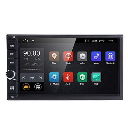 Universal 2Din coche Auto Radio GPS navegación hizpo 7 Pulgadas pantalla táctil Android 8.1 OS 2 GB RAM en Dash Multimedia reproductor Wifi BT apoyo DAB + ...