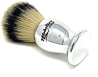 Mobsters Shaving Brush Synthetic Shave Brush Badger and Vegan Friendly (Chrome Silver)