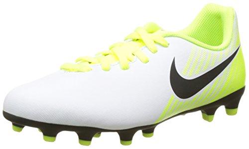 7. Nike Unisex Kid's Jr Magista Ola Ii Fg White/Black Football Shoes