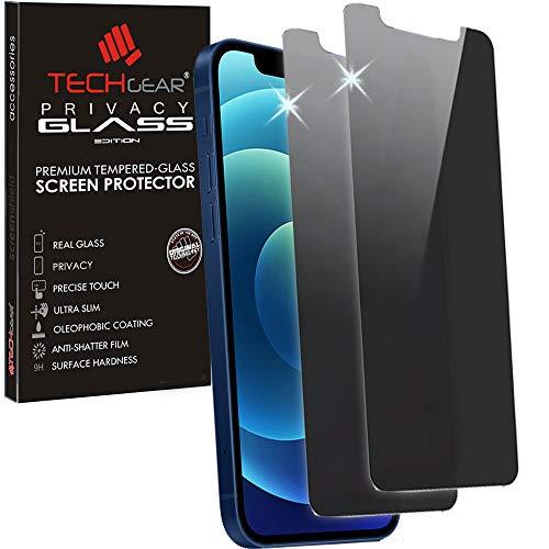 [2 Pack] TECHGEAR Anti Spy Screen Protectors for iPhone 12 Mini - PRIVACY...