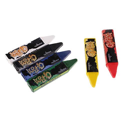 Sharplace 6 Farben Kinderschminke Halloween Fasching Schminke Kinder Set,Sicherheit Bodypaint Farbe,Einfach auf Leicht aus Kinder Tattoo,Ungiftig