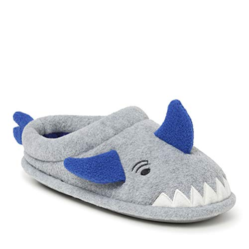 Dearfoams Kids Clog Slipper, Shark, US 9-10 Unisex Toddler