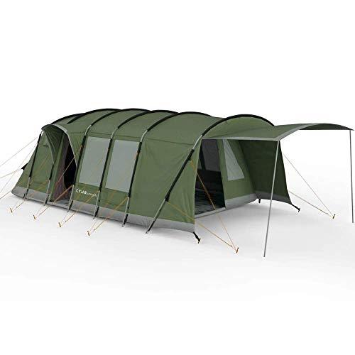 Crua Loj - Tienda de campaña para 6 personas con aislamiento térmico impermeable para familias de lujo de invierno, Glamping, caza, safari en las 4 estaciones meteorológicas