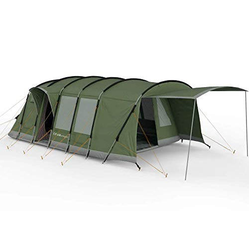 Crua Loj Premium Quality Rugged Durable 6+ Person Insulated Tent with Extendable Porch - Glamping, All Weather, rain Fly, Thermal, Survival, Artic or Desert, (Extreme Weather Pack)