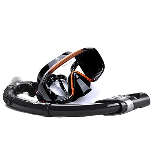 TKHHC Juego de Snorkel para Adultos, Máscara Antifugas y Juegos de Snorkel Vista Panorámica Amplia, Máscara de Buceo Antivaho