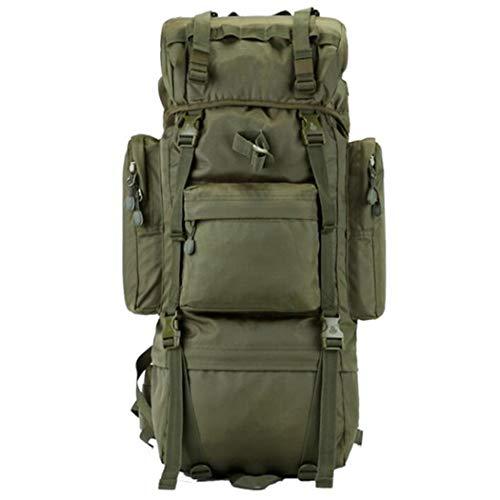 70L Mochilas de escalada de gran capacidad viajes camping bolsas impermeable alpinismo bolsa mochila, Hombre, Verde militar, 50 - 70L
