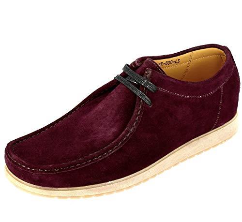 Zapatos para hombre Clark de piel de ante burdeos, (List Rojo Morado), 40 EU