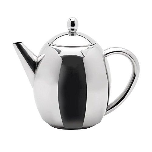 Weis Teekanne mit Teefilter einwandig 1,7 l, Edelstahl, Silber, 24 x 8.5 x 19 cm