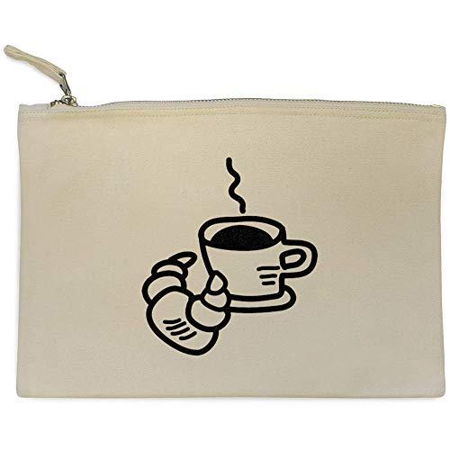 Azeeda 'Kaffee und Croissant' Clutch/Makeup-Fall (CL00013037)